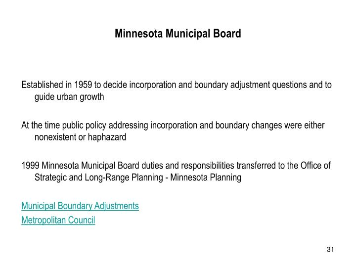 Minnesota Municipal Board