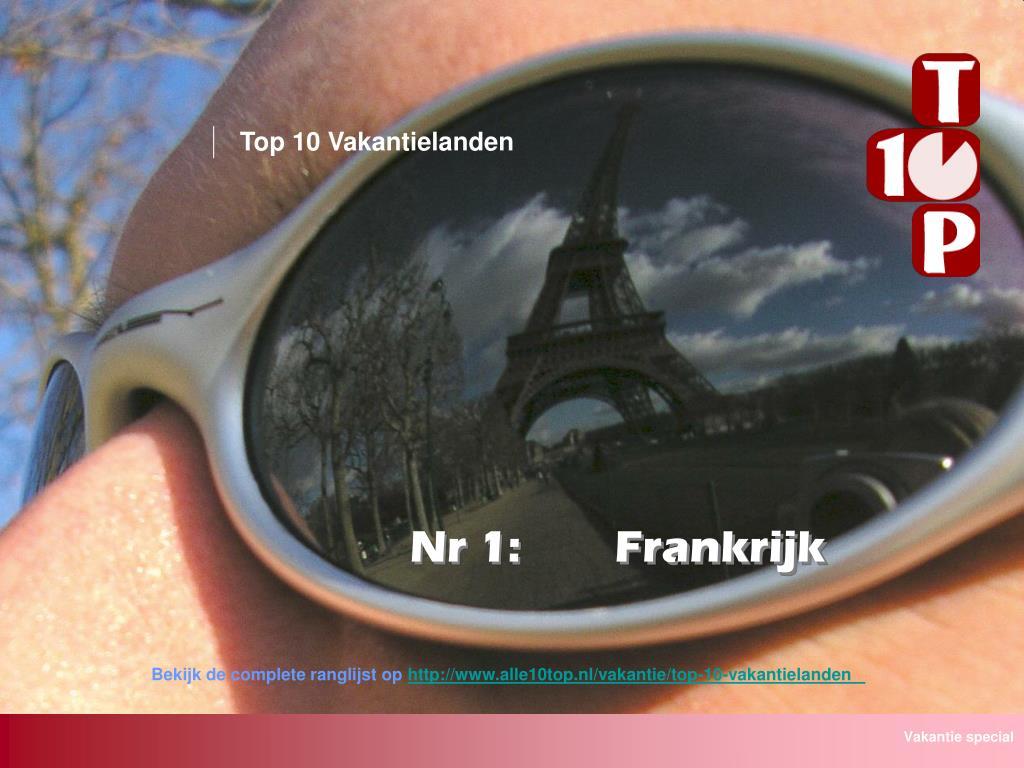 Top 10 Vakantielanden