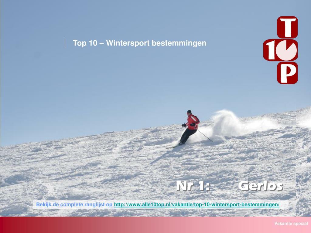 Top 10 – Wintersport bestemmingen