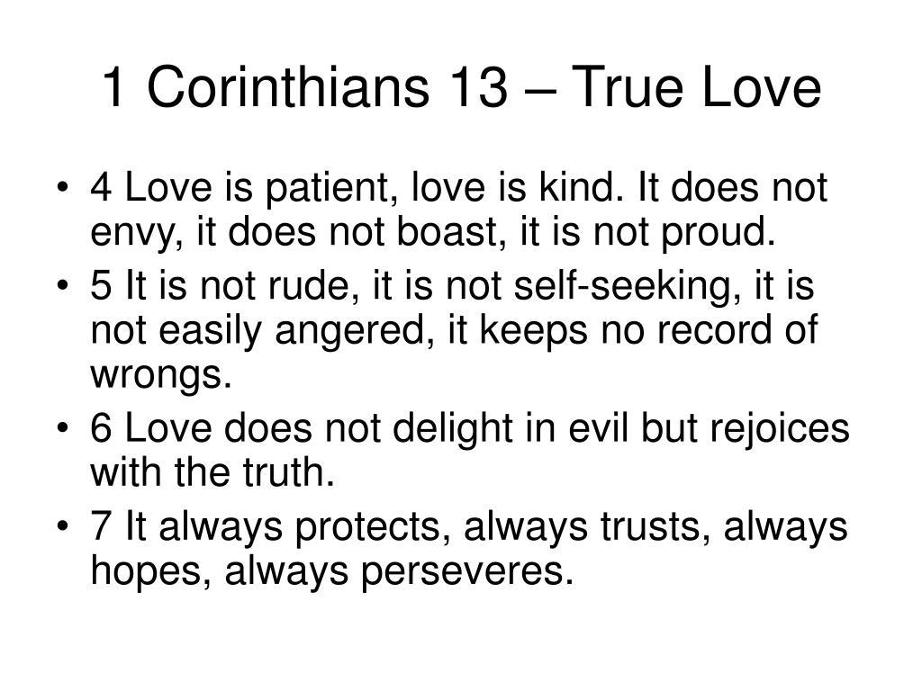 1 Corinthians 13 – True Love