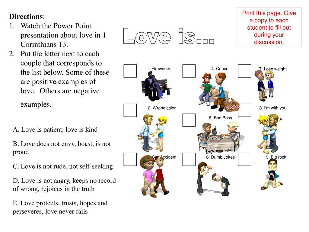 Print this page. Give a copy to each student to fill out during your discussion.