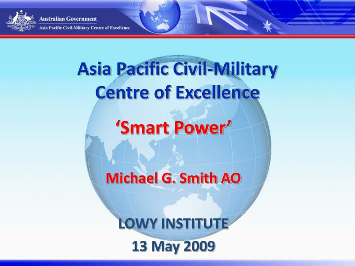 Asia pacific civil military centre of excellence