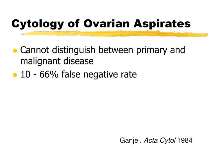 Cytology of Ovarian Aspirates