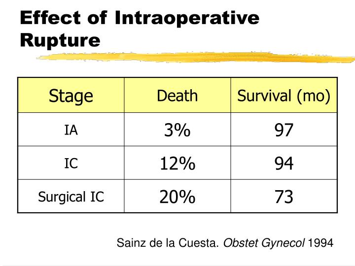 Effect of Intraoperative Rupture