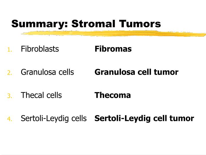 Summary: Stromal Tumors