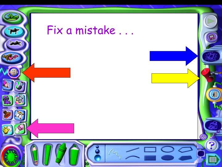 Fix a mistake . . .