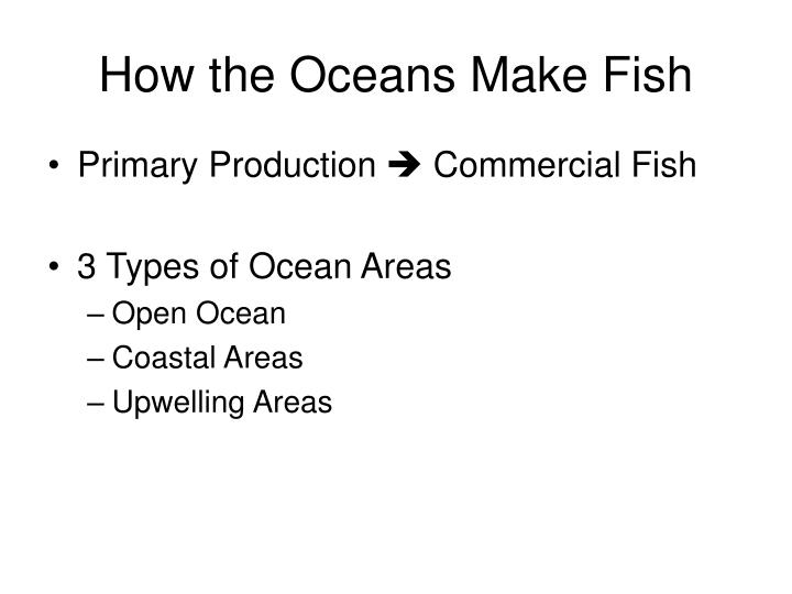 How the Oceans Make Fish