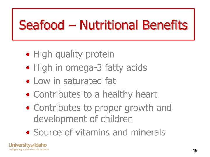 Seafood – Nutritional Benefits