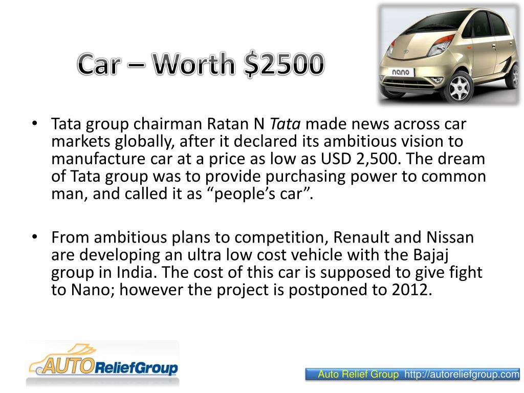 Car – Worth $2500