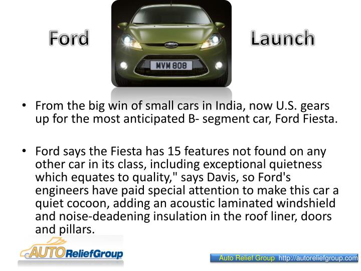 Ford launch