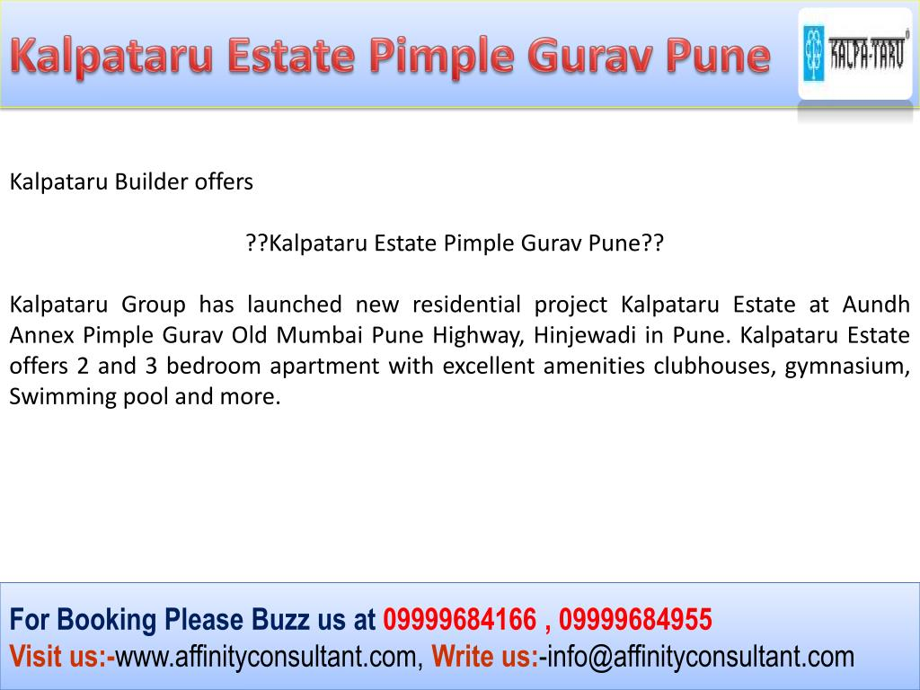 Kalpataru Estate Pimple Gurav Pune