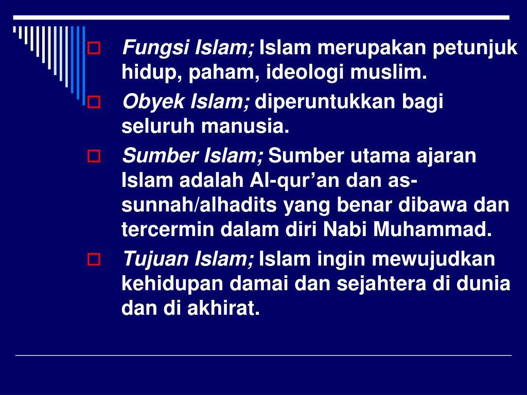 Fungsi Islam;