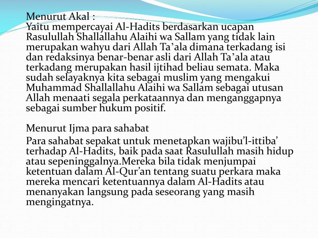Menurut Akal :