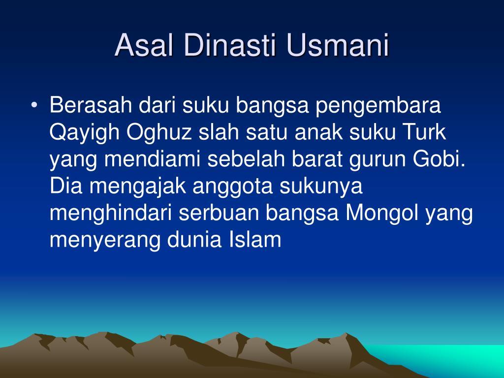 Asal Dinasti Usmani