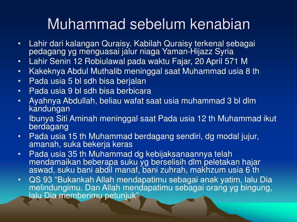 Muhammad sebelum kenabian