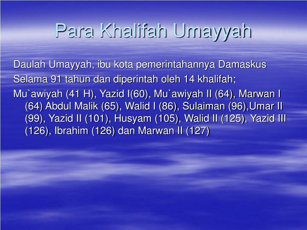 Para Khalifah Umayyah