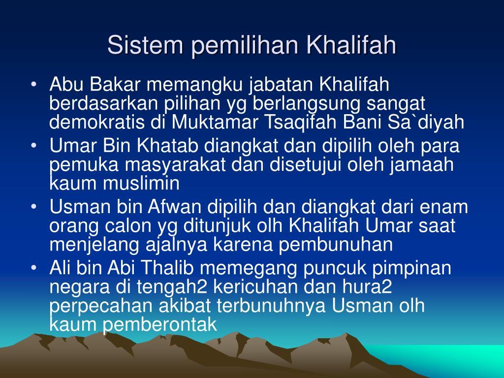 Sistem pemilihan Khalifah