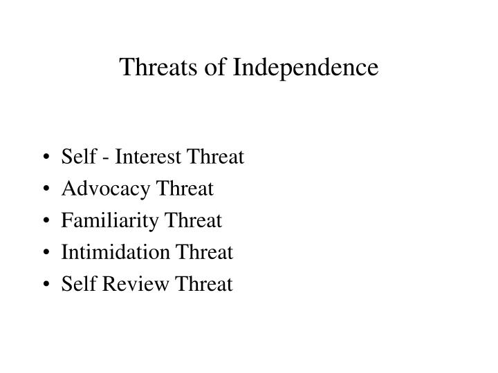 Threats of Independence