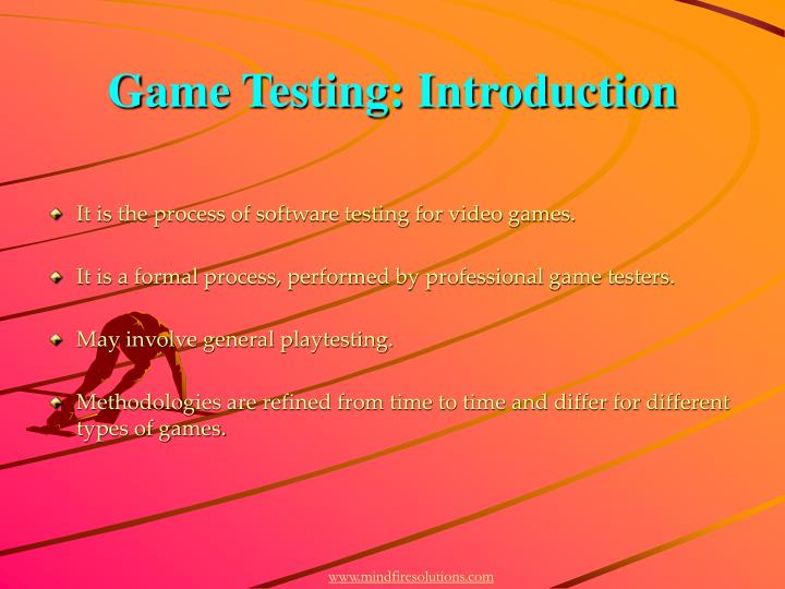 Game testing introduction