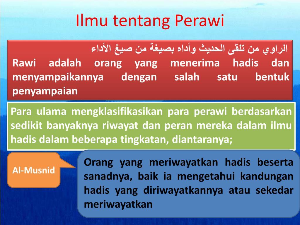 Ilmu tentang Perawi