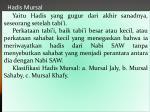 hadis mursal