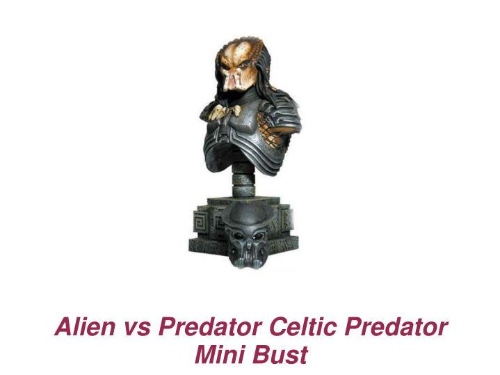 Alien vs predator celtic predator mini bust