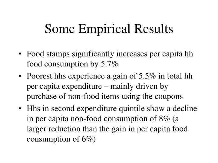 Some Empirical Results