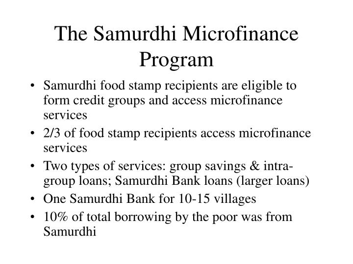 The Samurdhi Microfinance Program