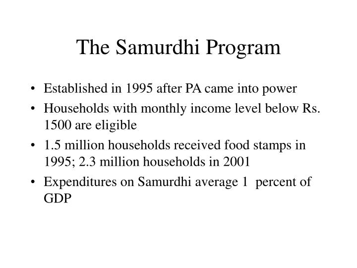 The samurdhi program