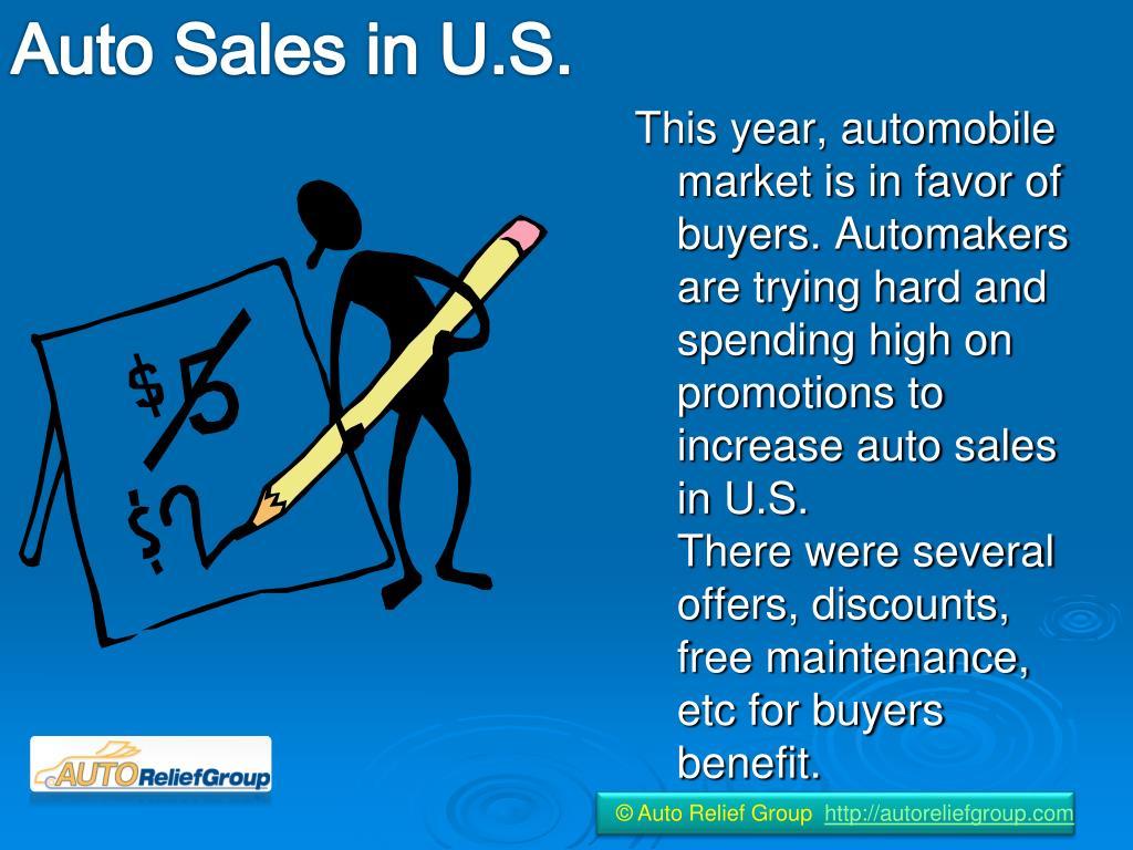 Auto Sales in U.S.