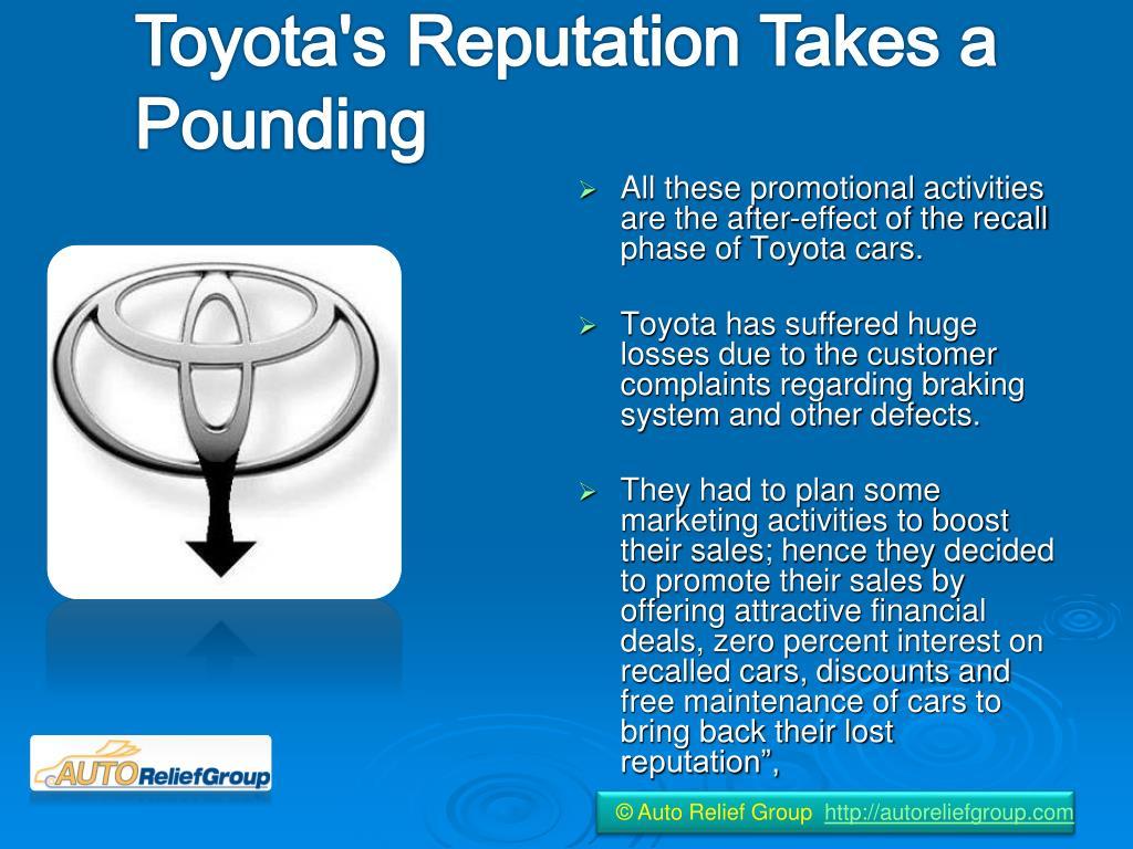 Toyota's Reputation Takes a Pounding