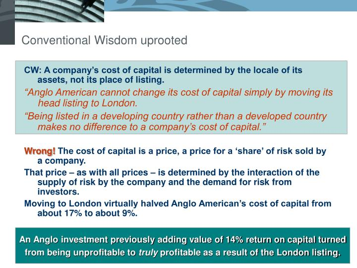 Conventional Wisdom uprooted