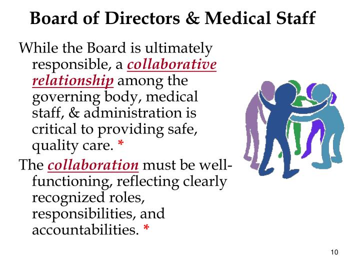 role medical staff I should begin my first message as shc's medical staff president by we also believe that a stronger voice and role for however, the medical board.