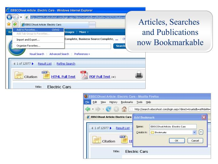 Articles, Searches