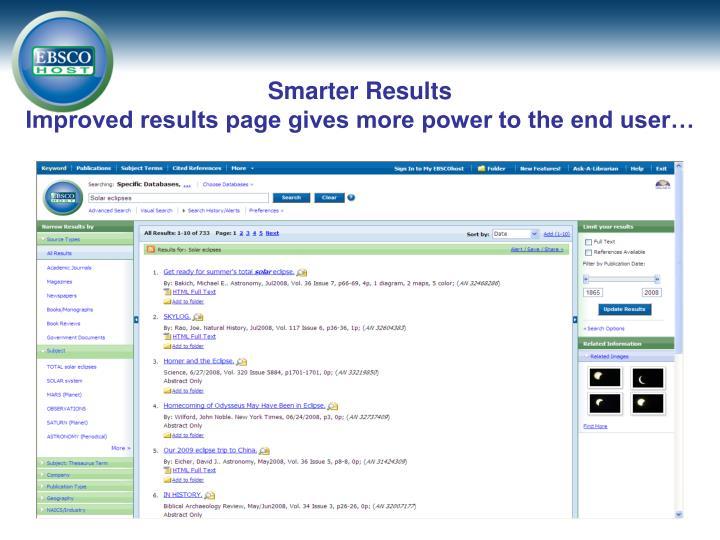 Smarter Results