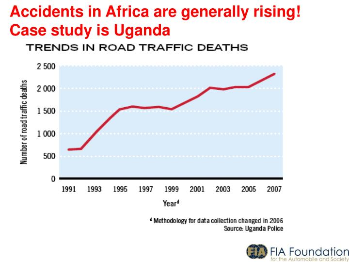 Accidents in Africa are generally rising!