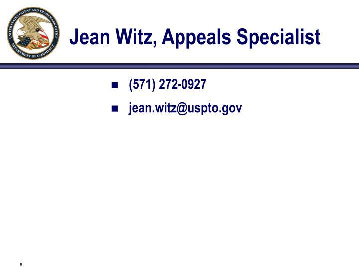 Jean Witz, Appeals Specialist