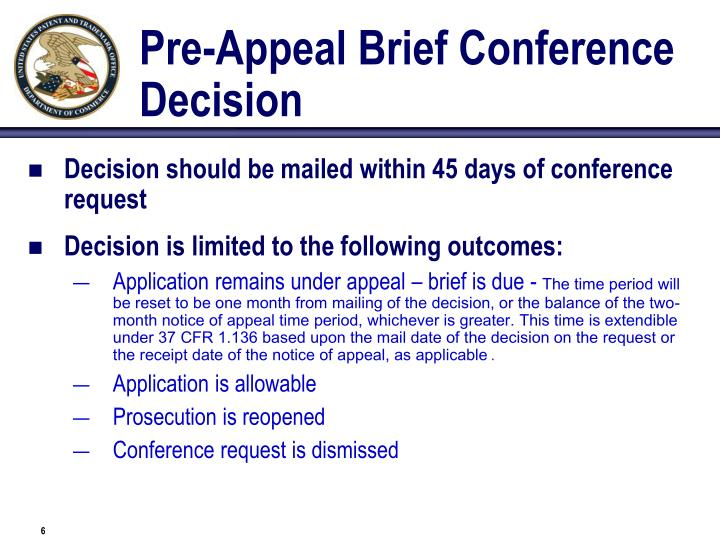 Pre-Appeal Brief Conference Decision