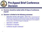 pre appeal brief conference decision