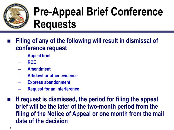 Pre-Appeal Brief Conference Requests