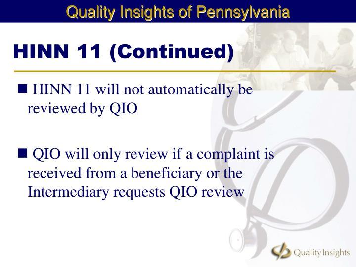 HINN 11 (Continued)