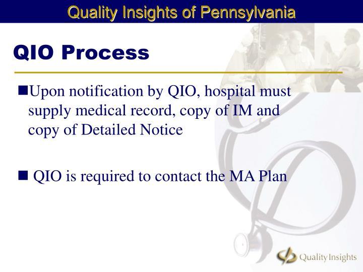 QIO Process