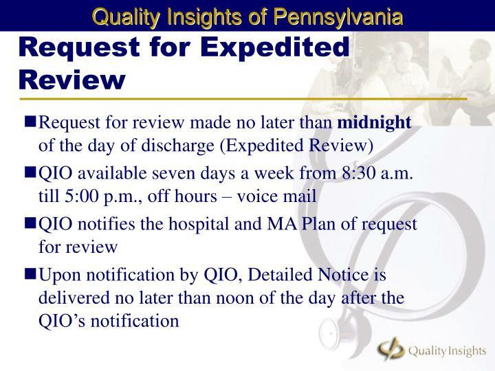 Request for Expedited Review