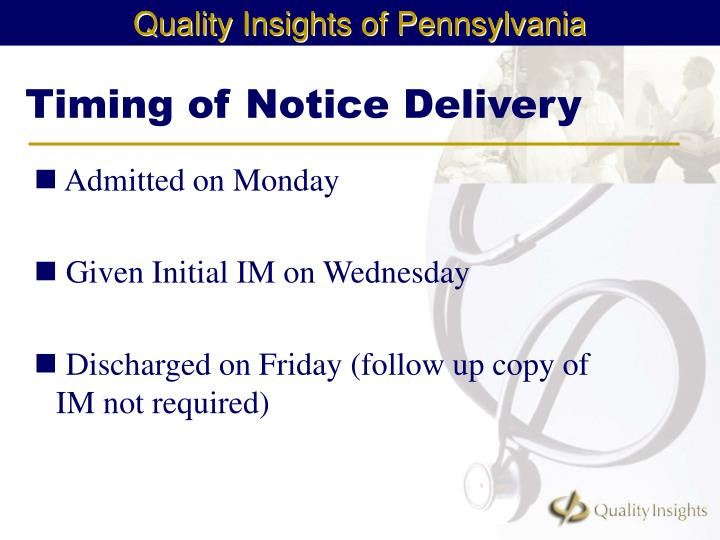 Timing of Notice Delivery