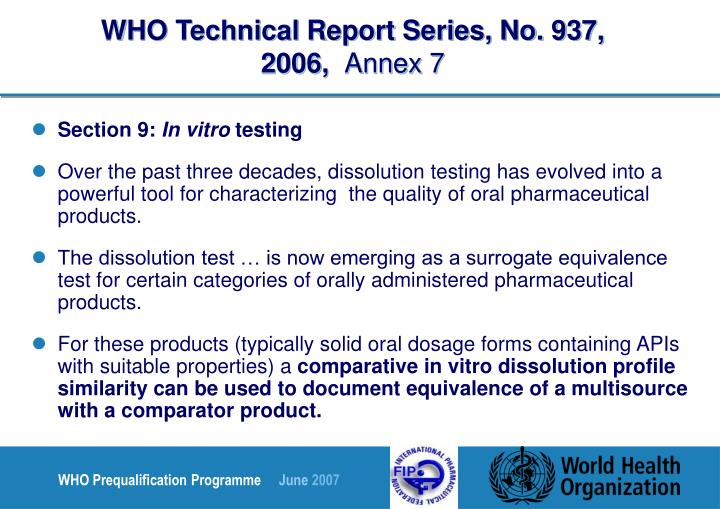 WHO Technical Report Series, No. 937, 2006,