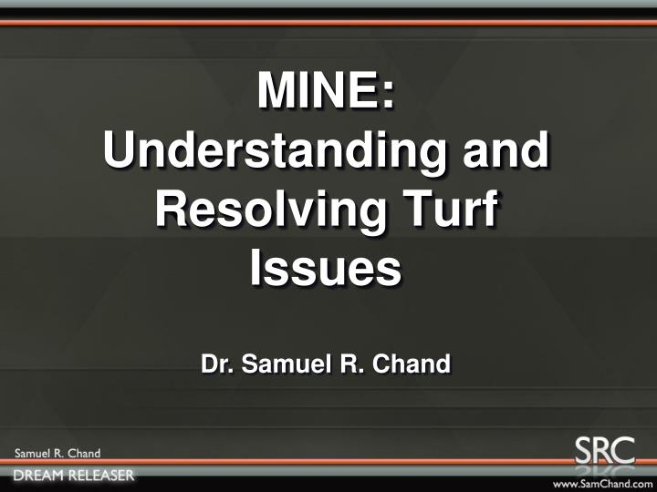 Mine understanding and resolving turf issues