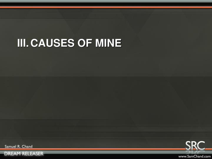 III.CAUSES OF MINE