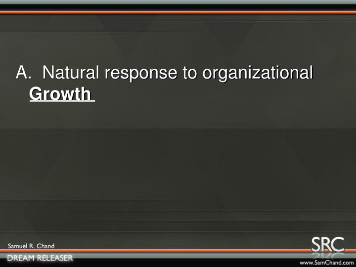 A.  Natural response to organizational