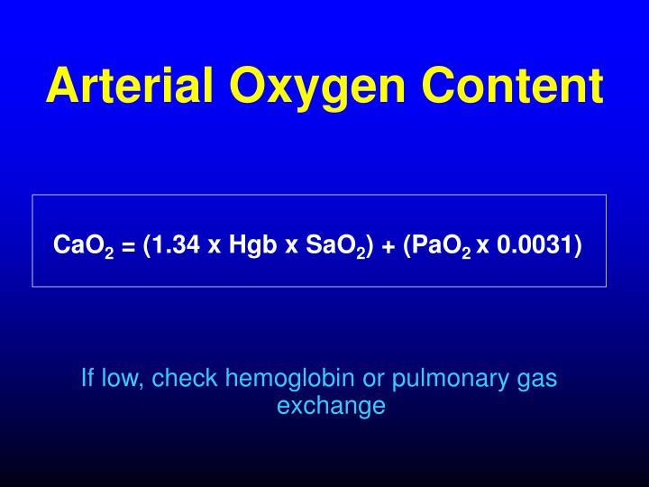 Arterial Oxygen Content