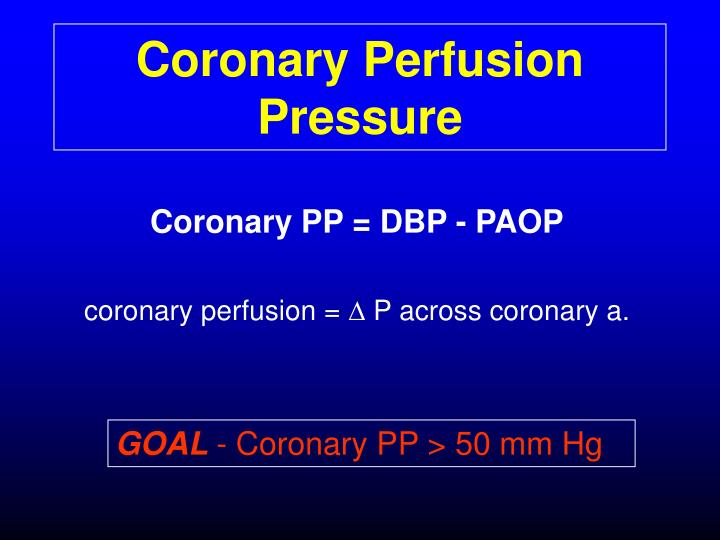 Coronary Perfusion Pressure